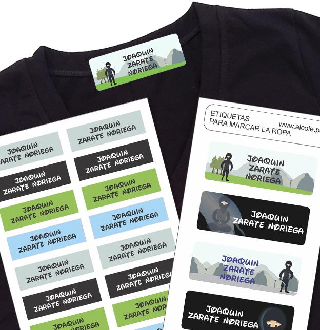 ninja Etiquetas para marcar la ropa