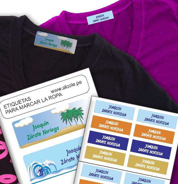 Etiquetas para el cole alcole etiquetas y ropa personalizada - Etiquetas para el cole ...