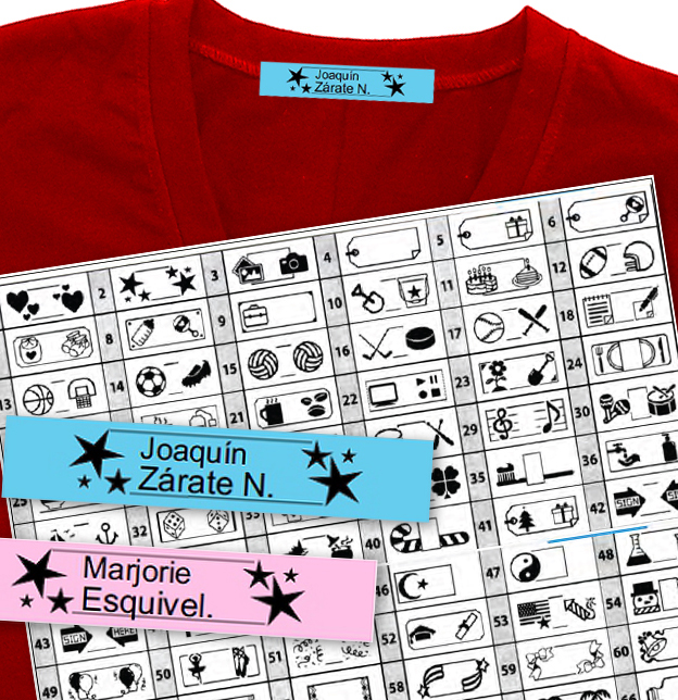 Etiquetas para marcar la ropa