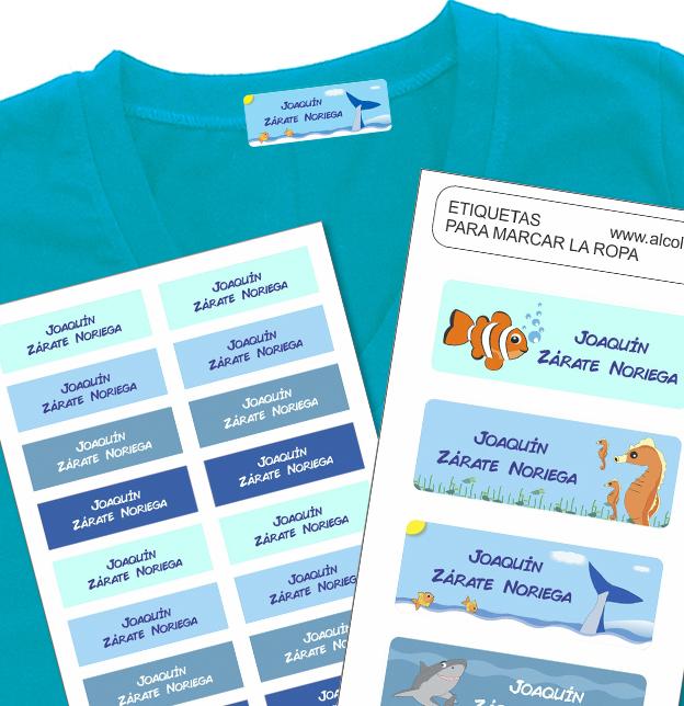 sea world Etiquetas para marcar la ropa