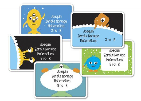 Etiquetas para cuaderno
