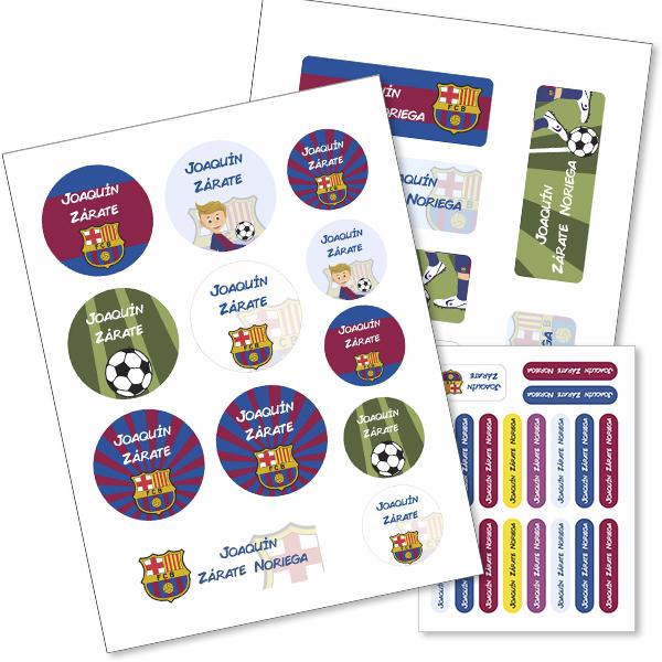 barcelona Etiquetas material escolar