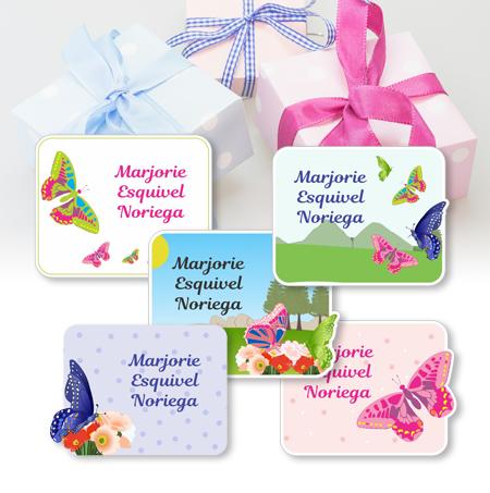 butterfly Etiquetas para regalo