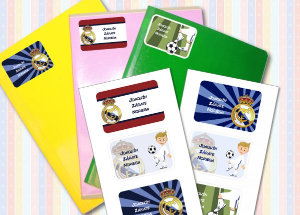 real madrid Etiquetas cuaderno