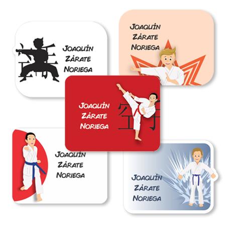 karate Etiquetas para regalo