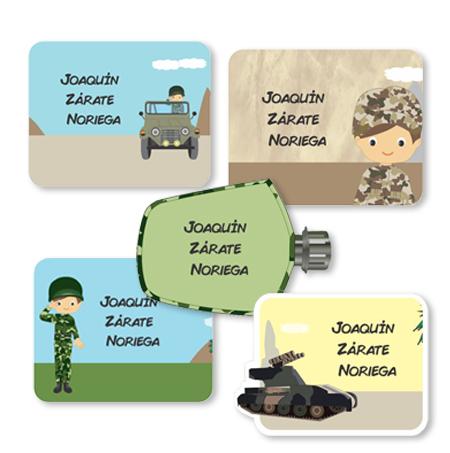 military Etiquetas para regalo