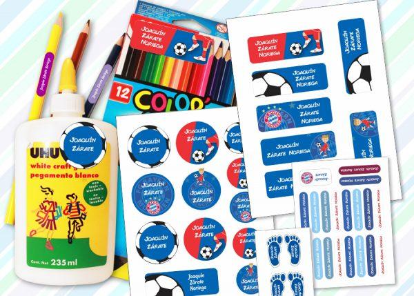 bayer Etiquetas material escolar