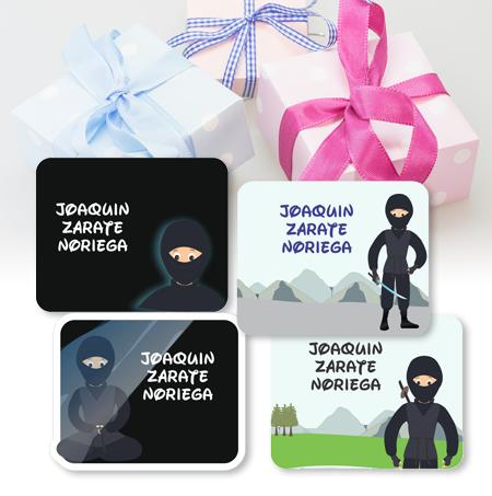 ninja Etiquetas para regalo