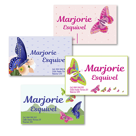 Butterfly Tarjetas personalizadas