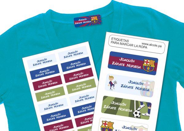 barcelona Etiquetas para marcar la ropa