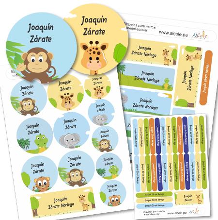jungle Etiquetas para marcar la ropa - Pack Brothers