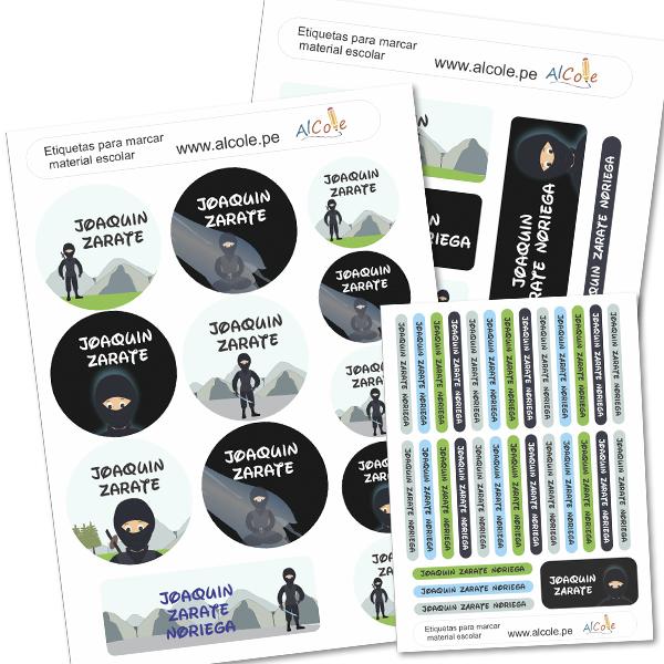 ninja Etiquetas para marcar la ropa - Pack Brothers