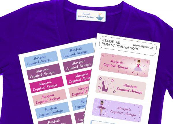 ballet Etiquetas para marcar la ropa