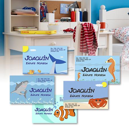 Tarjetas personalizadas – Sea World – AlCole – Etiquetas y Ropa ... b7b5a88068cd3