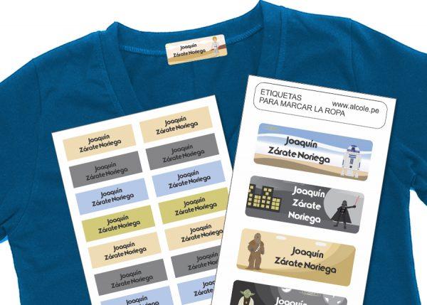 war of the worlds Etiquetas para marcar la ropa