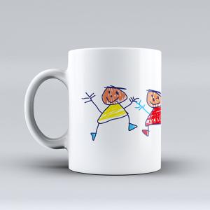 taza personalizada dibujo niño