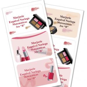 beauty salon Etiquetas para cuaderno