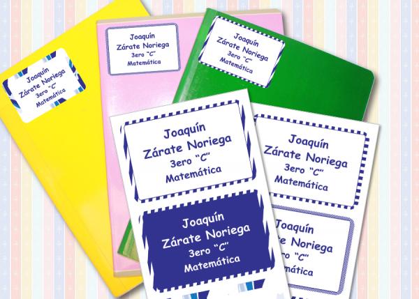 classic boys Etiquetas para cuaderno