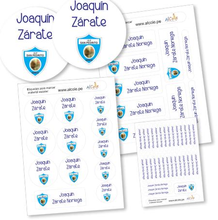 escudo colegio etiquetas marcar material escolar pack brother