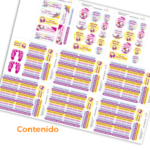 etiquetas marcar material escolar pack kinder