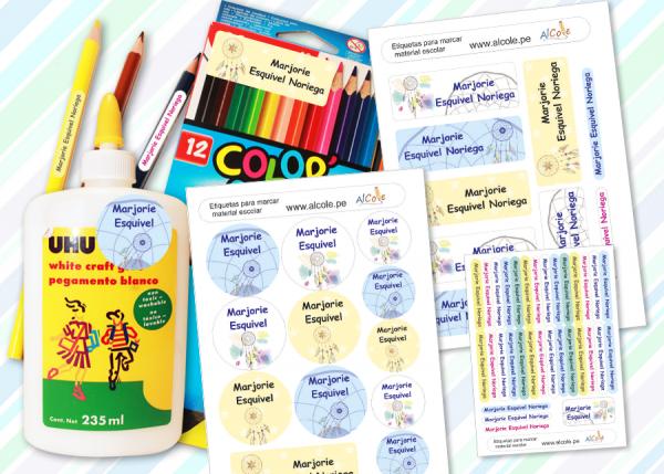 atrapa sueños etiquetas marcar material escolar pack brother