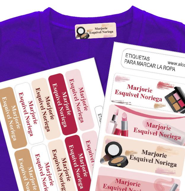 beauty salon etiquetas marcar la ropa