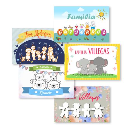Tarjetas familia personalizadas