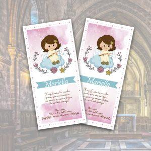 bautizo tarjeta niña angel