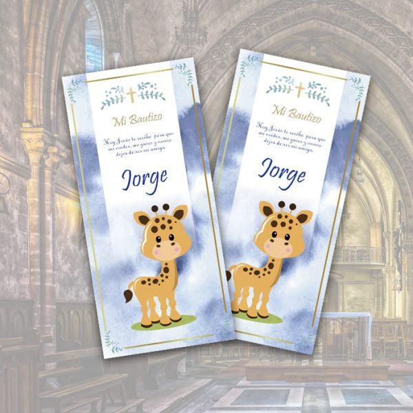 bautizo tarjeta jirafa