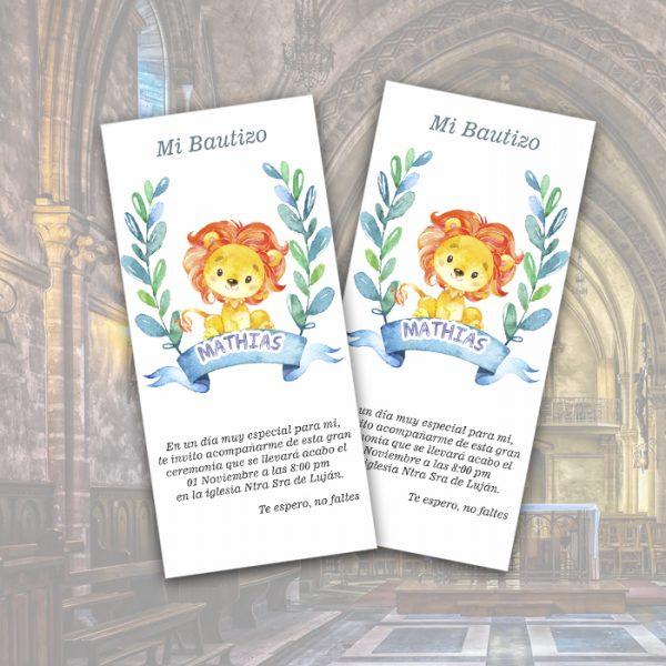 bautizo tarjeta leon